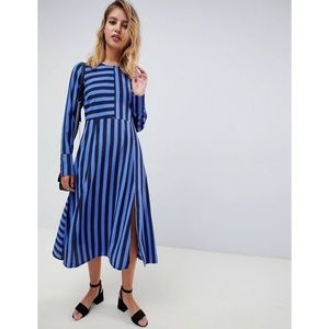 ASOS design striped midi dress